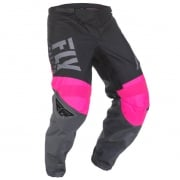 Fly Racing F16 Kids Neon Pink Black Grey Pants