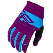 Fly Racing Kinetic Kids Shield Port Blue Gloves