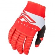 Fly Racing Kinetic Kids Shield Red White Gloves