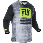 Fly Racing Kinetic Kids Noiz Black Hi Viz Jersey