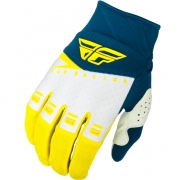 Fly Racing F16 Kids Yellow White Navy Gloves