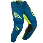 Fly Racing Kinetic Kids Shield Navy Hi Viz Pants