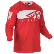 Fly Racing Kinetic Kids Shield Red White Jersey