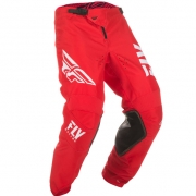 Fly Racing Kinetic Kids Shield Red White Pants