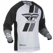 Fly Racing Evolution Black White Jersey