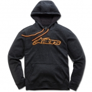 Alpinestars Blaze Fleece Charcoal Heather Orange Hoodie