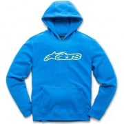 Alpinestars Blaze Fleece Blue Hi Viz Yellow Hoodie