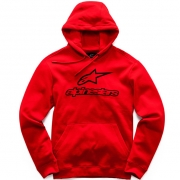 Alpinestars Always ll Red Black Hoodie