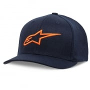 Alpinestars Kids Ageless Curve Navy Orange Cap