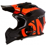ONeal 2 Series Kids Slick Black Orange Helmet