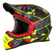 ONeal 3 Series Zen Neon Yellow Motocross Helmet