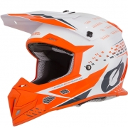 ONeal 5 Series Trace White Orange Motocross Helmet