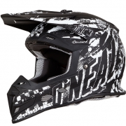 ONeal 5 Series Rider Black White Motocross Helmet
