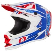 ONeal 7 Series Strain Blue Red Motocross Helmet