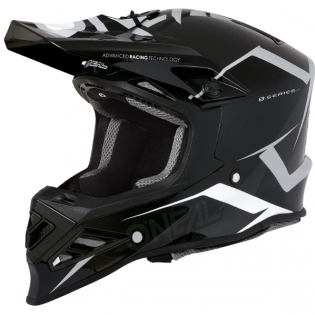 ONeal 8 Series Blizzard Black Grey Motocross Helmet