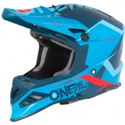 ONeal 8 Series Blizzard Blue Motocross Helmet
