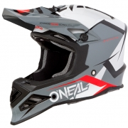 ONeal 8 Series Blizzard Grey Motocross Helmet