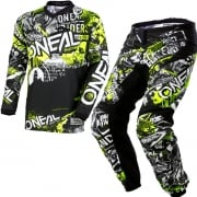 ONeal Element Attack Black Hi Viz Kit Combo