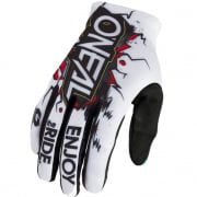 ONeal Matrix Villain White Motocross Gloves