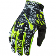 ONeal Matrix Attack Black Hi Viz Motocross Gloves