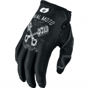 ONeal Mayhem Pistons Black White Motocross Gloves