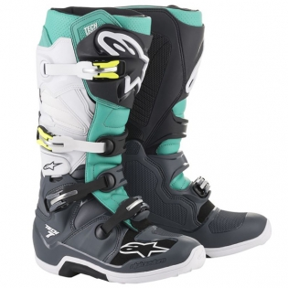 Alpinestars Tech 7 Dark Grey Teal White Boots