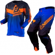 Answer Trinity Black Cobalt Flo Orange Kit Combo