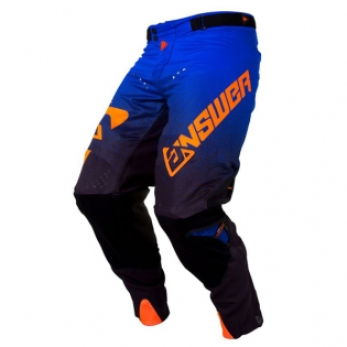 Answer Trinity Black Cobalt Flo Orange Pants