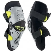Alpinestars SX1 Kids Silver Yellow Fluo Knee Guards