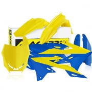 Acerbis Plastic Kit - Suzuki RMZ - Yellow Blue
