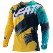 Leatt GPX 4.5 Lite Gold Teal Motocross Jersey