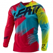 Leatt GPX 4.5 Lite Red Lime Motocross Jersey