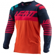 Leatt GPX 4.5 X-Flow Ink Orange Motocross Jersey