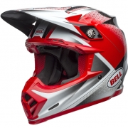 Bell Moto 9 Carbon Flex Helmet - Matte Gloss Hound Red White Black