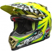 Bell Moto 9 Carbon Flex Helmet - Tagger Mayhem Green Black White