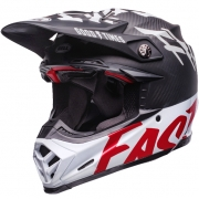 Bell Moto 9 Carbon Flex Helmet - Fasthouse WRWF Black White Red