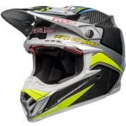 Bell Moto 9 Carbon Flex Helmet - Pro Circuit Black Green Replica
