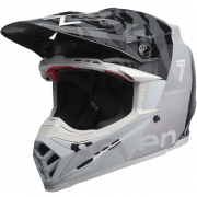 Bell Moto 9 Carbon Flex Helmet - Seven Zone Gloss Black Chrome