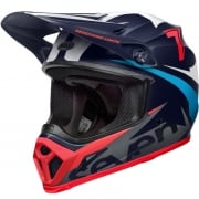 Bell MX9 MIPS Helmet - Seven Ignite Gloss Navy Coral