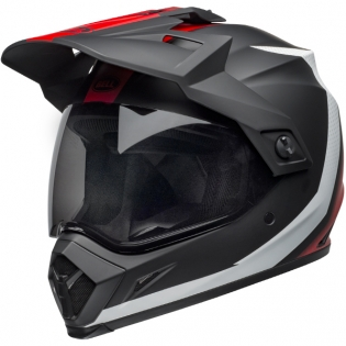 Bell MX9 MIPS Adventure Helmet - Switchback Matte Black Red White