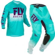 Fly Racing LE Lite Hydrogen Seafoam Port White Kit Combo