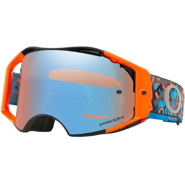 6be5b13401 ... Oakley Airbrake MX Goggles - Camo Vine Night Orange Blue Prizm Image 4.  Enlarge Watch Video