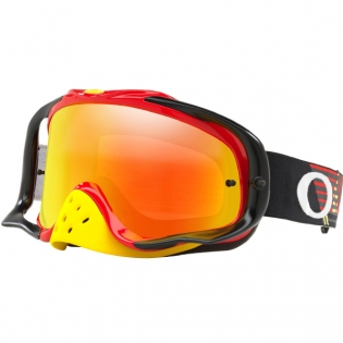 Oakley Crowbar Goggles - Circuit Red Yellow Fire Iridium