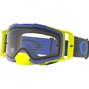 Oakley Front Line MX Goggles - Blue Flo Green Clear