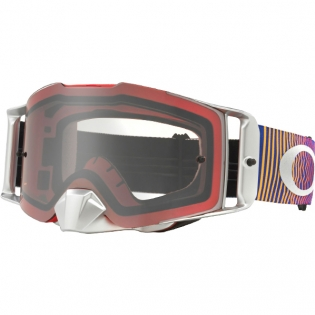 Oakley Front Line MX Goggles - Shockwave Red Blue Clear