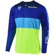 Troy Lee Designs SE Beta Flo Yellow Blue Jersey