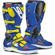 Sidi Crossfire 3 SRS Yellow Fluo Blue Motocross Boots