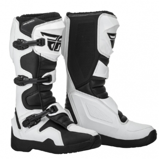 Fly Racing Maverik White MX Boots