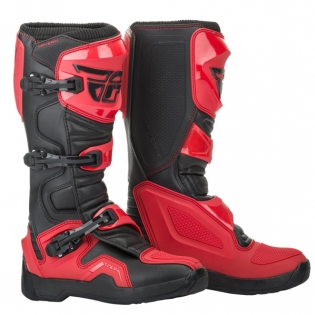 Fly Racing Maverik Red Black MX Boots