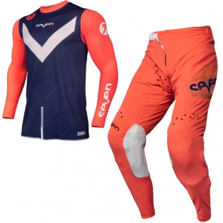 Seven MX Kids Zero Victory Coral Navy Kit Combo